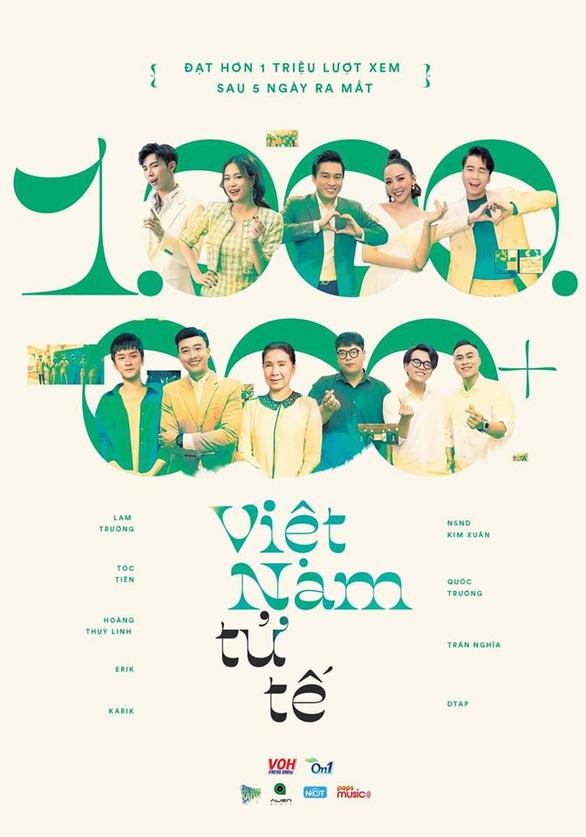 MV Việt Nam tử tế dẫn đầu bảng xếp hạng NhacCuaTui - Ảnh 2.