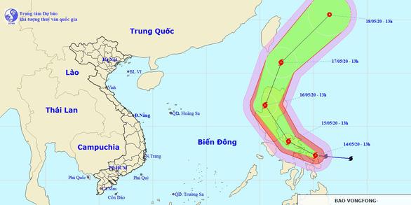 Bão Vongfong quẹo ngược ra Thái Bình Dương, ít khả năng vào Biển Đông - Ảnh 1.