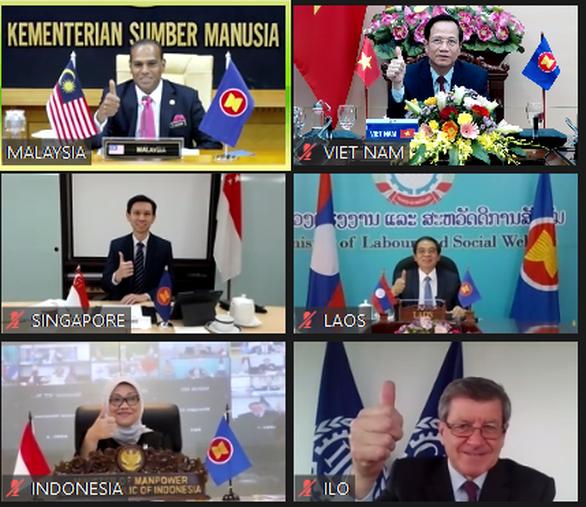 Các bộ trưởng lao động ASEAN họp bàn về ứng phó tác động của COVID-19 - Ảnh 2.