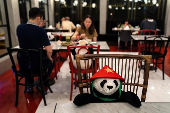 Nhà hàng Việt ở Thái Lan cho khách ngồi ăn với gấu bông - Ảnh 1.