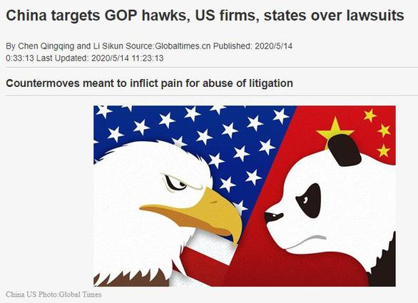Thời Báo Hoàn Cầu: Trung Quốc xem xét trừng phạt tổng chưởng lý tiểu bang Mỹ - Ảnh 1.