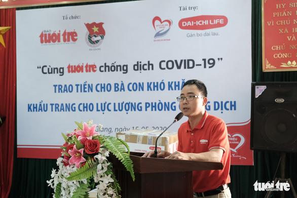 300 triệu đồng Cùng Tuổi Trẻ chống dịch COVID-19 đến tay đồng bào Hà Giang - Ảnh 2.