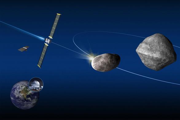 Tàu vũ trụ NASA va chạm tiểu hành tinh, có thể gây mưa sao băng - Ảnh 1.