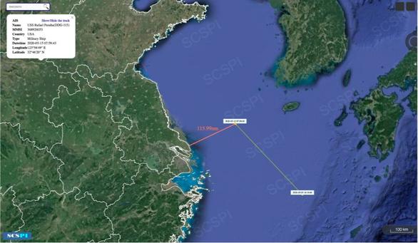 Tàu khu trục Mỹ vào gần Thượng Hải, lúc Trung Quốc đang tập trận - Ảnh 1.