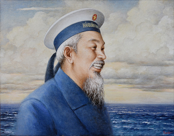 Tặng tranh Bác Hồ cho Bộ tư lệnh Quân chủng Hải quân - Ảnh 2.