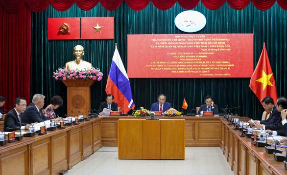 TP.HCM hội nghị trực tuyến với TP Saint Petersburg nhân sinh nhật Bác Hồ - Ảnh 1.