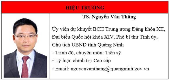 Chủ tịch UBND tỉnh Quảng Ninh kiêm nhiệm hiệu trưởng Trường ĐH Hạ Long - Ảnh 1.