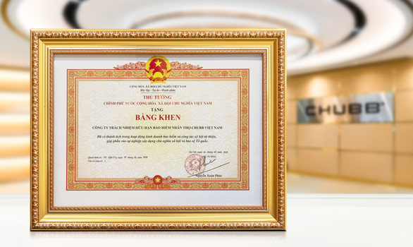 Chubb Life Việt Nam nhận bằng khen của Thủ tướng Chính phủ - Ảnh 1.