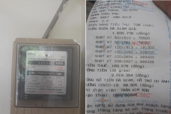 Nhân viên ghi lộn gần 400kWh điện, điện lực xin lỗi khách hàng - Ảnh 1.