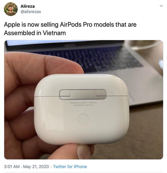 Apple đã chuyển một phần sản xuất AirPods từ Trung Quốc sang Việt Nam - Ảnh 2.