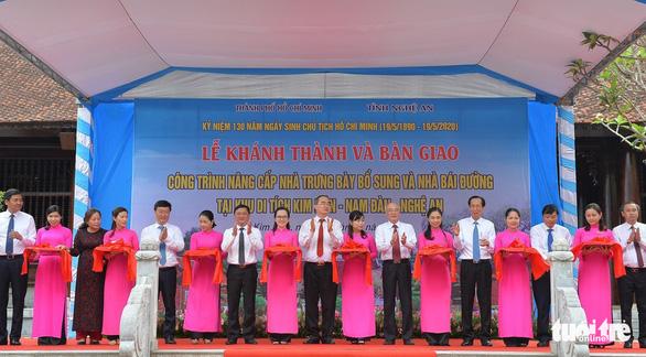 Khánh thành nhà trưng bày bổ sung và nhà bái đường quê hương Chủ tịch Hồ Chí Minh - Ảnh 2.
