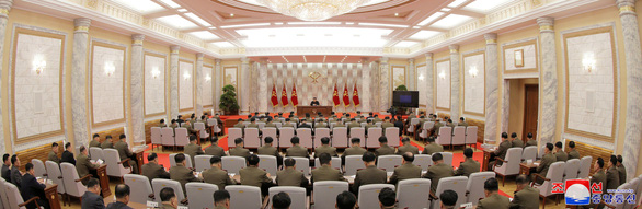 Ông Kim Jong Un chủ trì họp nâng cao năng lực hạt nhân của Triều Tiên - Ảnh 3.