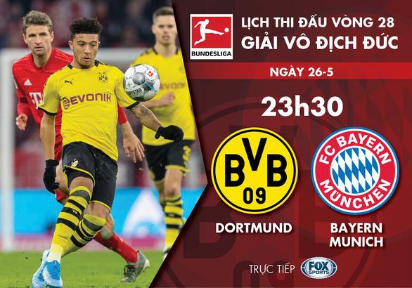 Lịch trực tiếp đại chiến Dortmund - Bayern Munich - Ảnh 1.