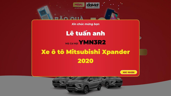 Daikiosan và Makano công bố người đầu tiên trúng ôtô Xpander Mitsubishi - Ảnh 1.