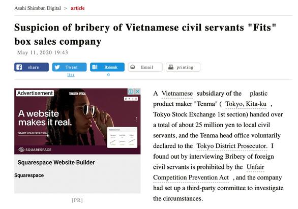 Nghi án công ty Nhật ở Bắc Ninh hối lộ 5,4 tỉ đồng để trốn thuế - Ảnh 1.
