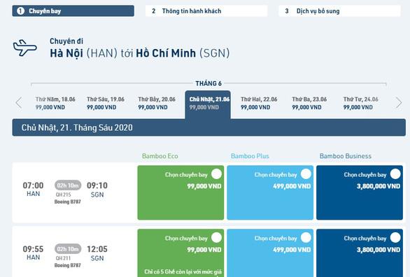 Bamboo Airways tăng tần suất chặng Hà Nội - TP.HCM lên 16 chuyến/ngày - Ảnh 2.