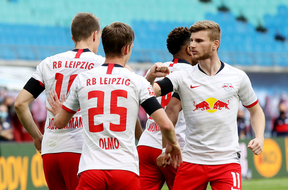 Đánh rơi chiến thắng trước Hertha Berlin, RB Leipzig cạn hi vọng vô địch - Ảnh 2.