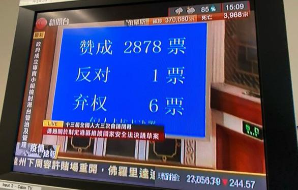 Trung Quốc thông qua quyết định soạn thảo luật an ninh Hong Kong - Ảnh 2.
