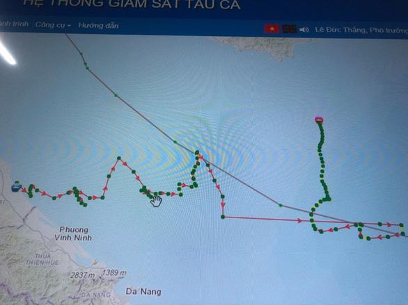Tìm tàu cá mất tín hiệu 3 ngày sau khi di chuyển theo quỹ đạo khác thường trên biển - Ảnh 1.