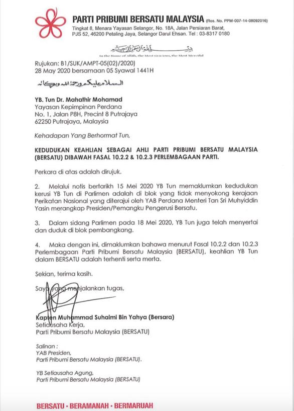 Cựu thủ tướng Mahathir Mohamad bị khai trừ khỏi đảng do mình sáng lập - Ảnh 2.