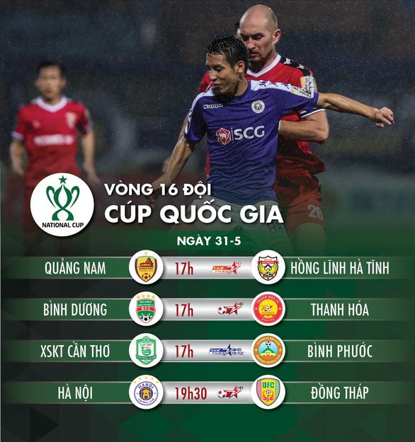 Lịch trực tiếp vòng 16 đội Cúp quốc gia 2020: Tâm điểm Bình Dương - Ảnh 1.