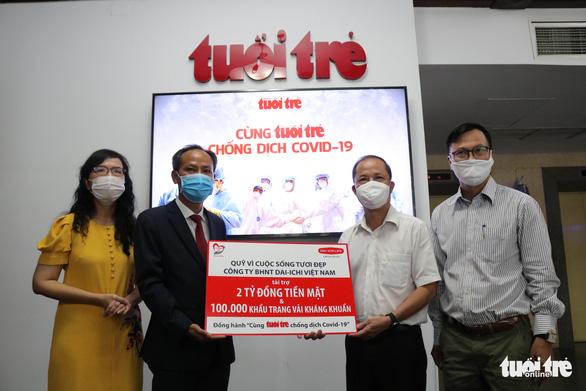 Dai-ichi Life trao 2 tỉ đồng và 100.000 khẩu trang 'Cùng Tuổi Trẻ chống dịch COVID-19' - Ảnh 2.