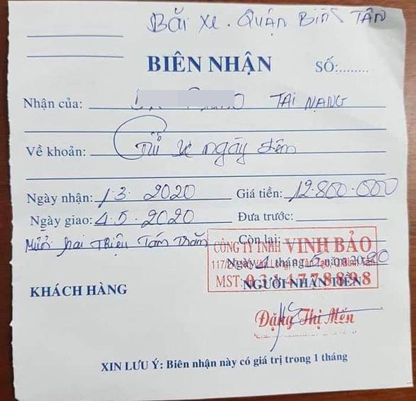 Công an Bình Tân phải báo cáo vụ chủ xe mất gần 13 triệu tiền gửi xe bị tạm giữ - Ảnh 1.