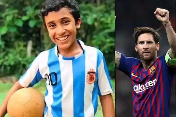 Cậu bé 12 tuổi đá phạt giống Messi gây sốt trên mạng xã hội - Ảnh 2.