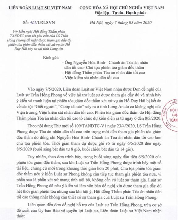 Luật sư Trần Hồng Phong sẽ tiếp tục tham gia phiên toà Hồ Duy Hải - Ảnh 1.