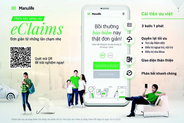 Manulife mở rộng yêu cầu nộp quyền lợi bảo hiểm bằng eClaims - Ảnh 1.