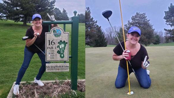 Thành tích kỳ diệu trên sân golf của nữ y tá trong mùa dịch - Ảnh 1.