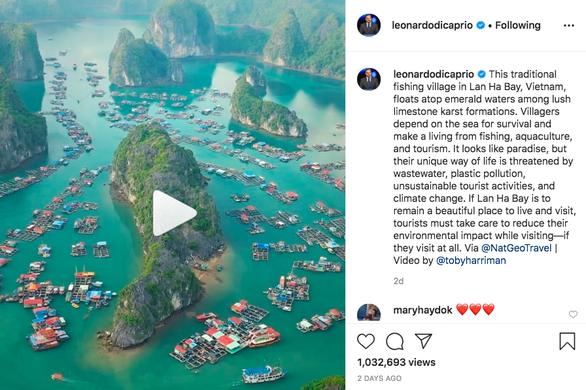 Leonardo DiCaprio đăng video về vịnh Lan Hạ, đạt hơn 1 triệu lượt xem - Ảnh 1.