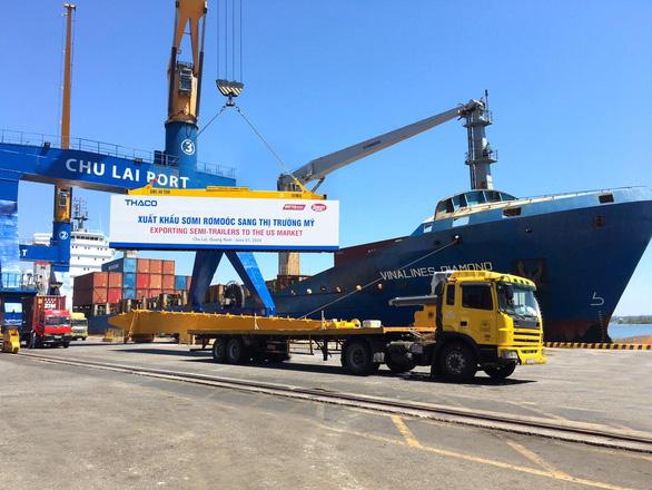 Thaco tiếp tục xuất khẩu sơmi rơmoóc sang Mỹ - Ảnh 1.