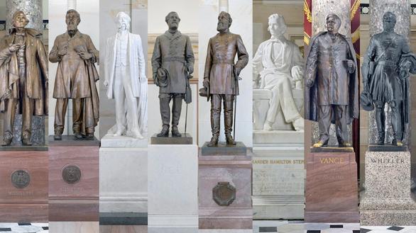 3 tượng nhà thám hiểm Columbus bị giật sập trong biểu tình Mỹ - Ảnh 3.