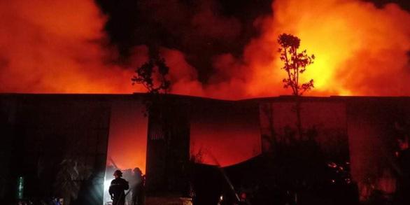 Cháy lớn nhà xưởng sát bên Viện Điều tra, quy hoạch rừng ở Hà Nội - Ảnh 1.