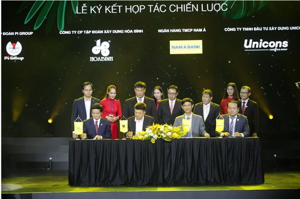Pi Group ký kết hợp tác với Hòa Bình, Unicons và Nam A Bank - Ảnh 1.