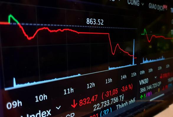 Chứng khoán rớt 31 điểm, giao dịch tăng đột biến lên hơn 1 tỉ USD - Ảnh 1.