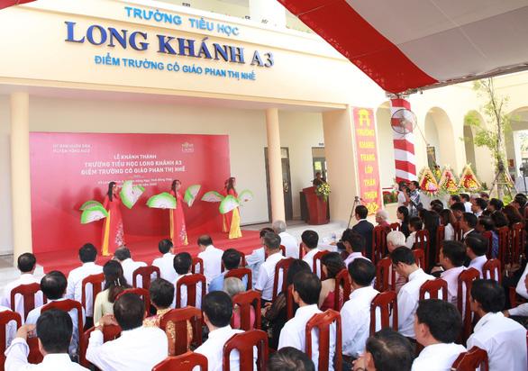 Khánh thành trường tiểu học Long Khánh A3 - Điểm trường cô giáo Phan Thị Nhế - Ảnh 1.