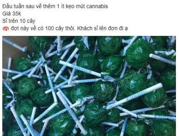 Bánh kẹo chứa ma túy được rao bán trên mạng - Ảnh 2.