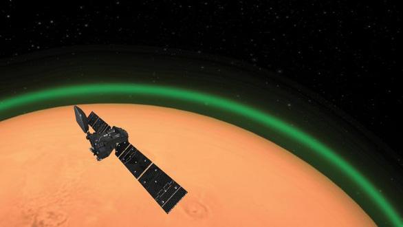Phát hiện lớp khí oxy sáng xanh trên sao Hỏa - Ảnh 1.