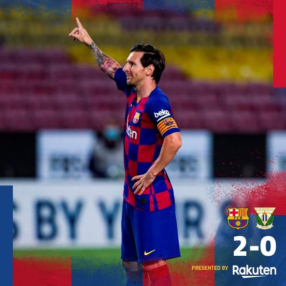 Messi ghi bàn từ chấm 11m giúp Barca hơn Real Madrid 5 điểm - Ảnh 1.