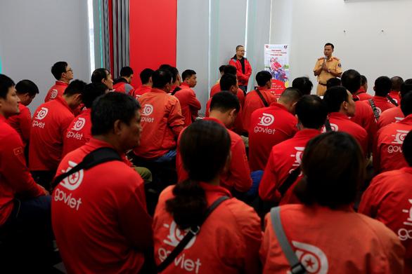 GoViet phối hợp với Công an TP.Hà Nội tập huấn, đào tạo cho đối tác tài xế - Ảnh 1.