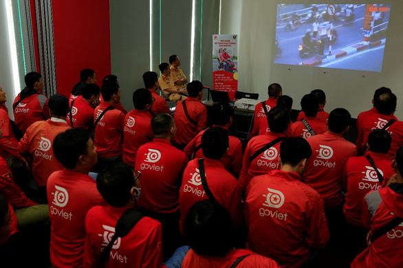 GoViet phối hợp với Công an TP.Hà Nội tập huấn, đào tạo cho đối tác tài xế - Ảnh 3.