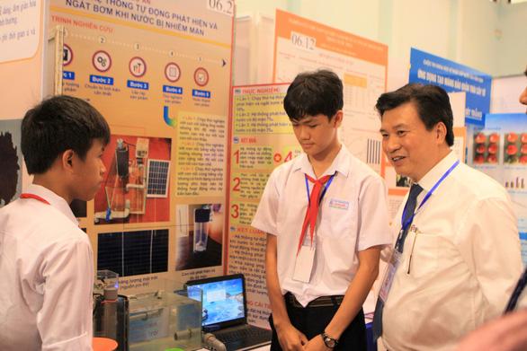 Học sinh làm nhiều dự án ấn tượng thi khoa học kỹ thuật quốc gia - Ảnh 1.