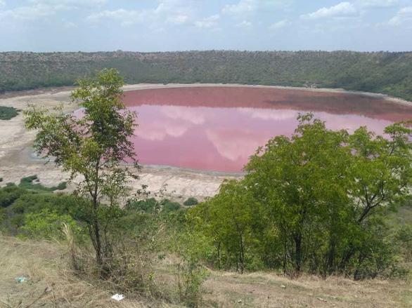 Hồ nước chuyển từ xanh sang hồng chỉ sau một đêm - Ảnh 2.