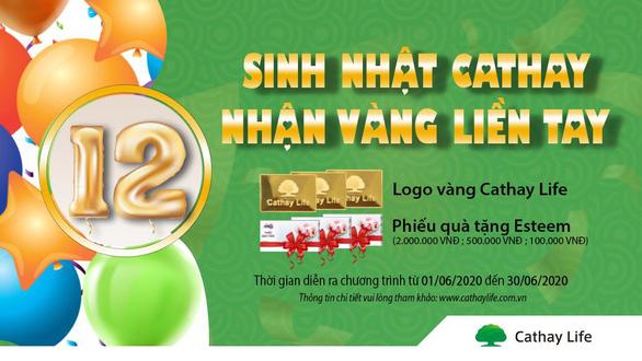 Chương trình khuyến mại mừng sinh nhật lần thứ 12 cùng Cathay - Ảnh 1.