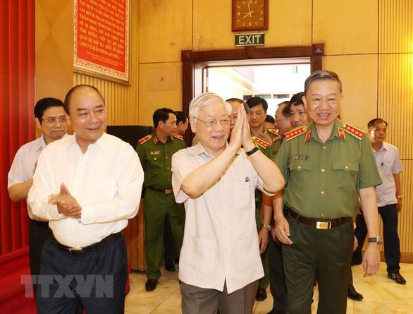 Tổng bí thư, Chủ tịch nước dự hội nghị Đảng ủy Công an Trung ương - Ảnh 1.