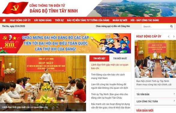 Tây Ninh ra mắt cổng thông tin Đảng bộ tỉnh - Ảnh 1.