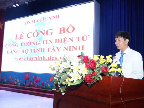 Tây Ninh ra mắt cổng thông tin Đảng bộ tỉnh - Ảnh 2.