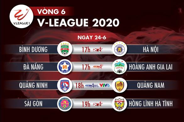 Lịch trực tiếp V-League 2020 ngày 24-6: Quang Hải so tài Tiến Linh - Ảnh 1.